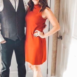 BB Dakota Red Mockneck Sleeveless Dress